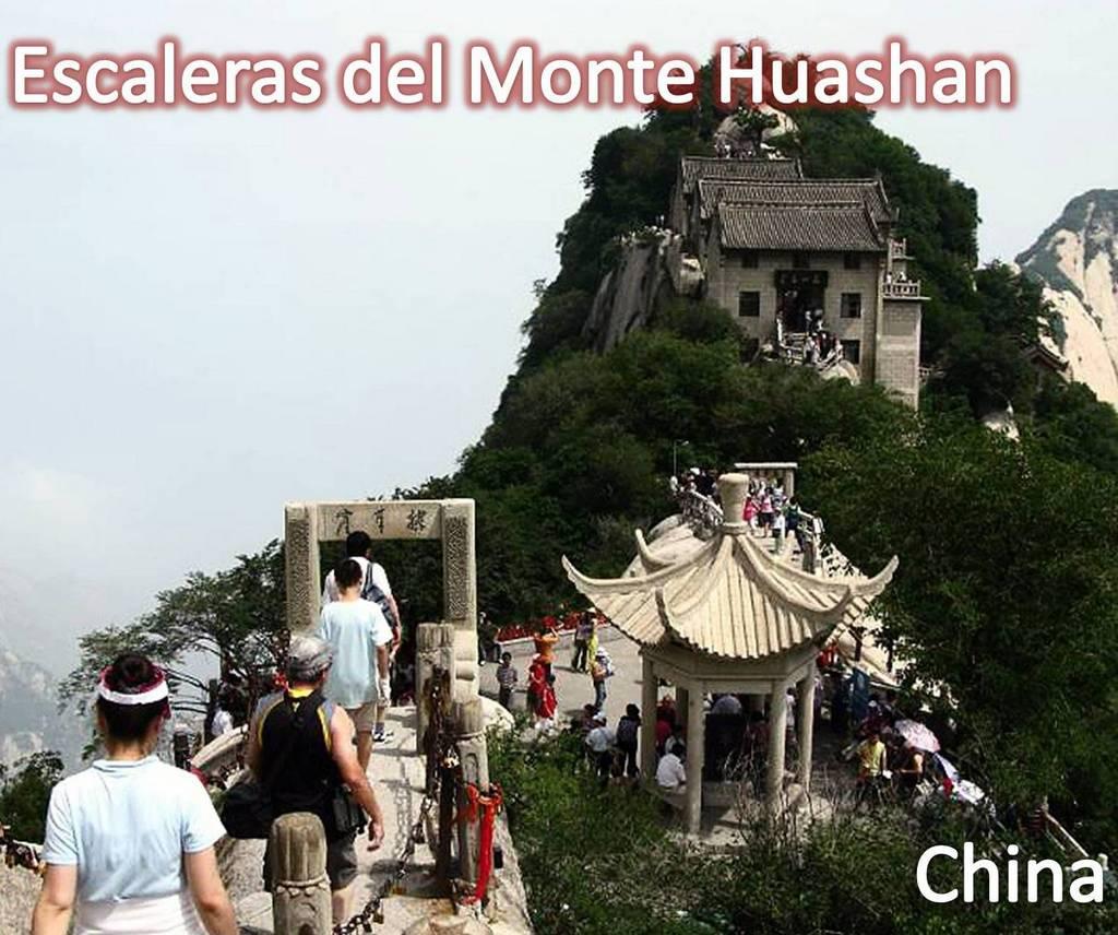Escaleras del Monte Huashan